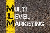 Business Acronym MLM as MULTI LEVEL MARKETING — Stock Photo