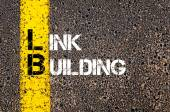 Business Acronym LB as LINK BUILDING — Stock Photo