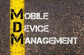 Business Acronym MDM as MOBILE DEVICE MANAGEMENT — Stock Photo