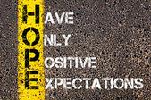 Business Acronym HOPE — Stock Photo