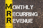 Business Acronym MRR as MONTHLY RECURRING REVENUE — Stock Photo