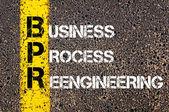 Negócios sigla Bpr — Fotografia Stock