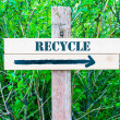 RECYCLE Directional sign — Stock Photo #73906669