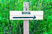 风险定向标志 — 图库照片
