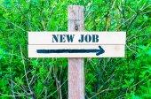 NEW JOB Directional sign — Stockfoto