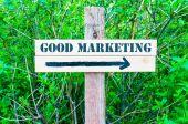 Gutes Marketing Richtungsanzeiger — Stockfoto