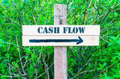 CASH FLOW Directional sign — Stock Photo