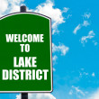 Welcome to LAKE DISTRICT — Stock Photo #74033421