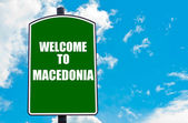 Welcome to MACEDONIA — Stock Photo