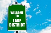Welcome to LAKE DISTRICT — Foto Stock