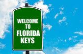 Welcome to FLORIDA KEYS — Stock Photo