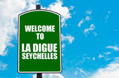 Welcome to LA DIGUE, SEYCHELLES — Stock Photo