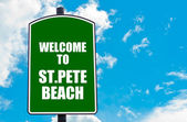 Welcome to ST.PETE BEACH — Стоковое фото