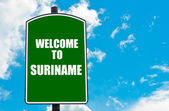 Welcome to SURINAME — Stock Photo