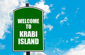 Welcome to KRABI ISLAND — Stock Photo