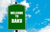 Welcome to BAKU — Stock Photo