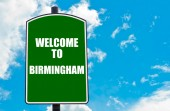 Birmingham hoş geldiniz — Stok fotoğraf