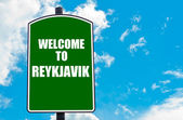 Welcome to REYKJAVIK — Stock Photo