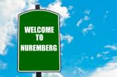 Welcome to NUREMBERG — Stockfoto