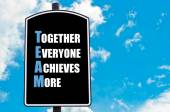 TEAM as TOGETHER EVERYONE ACHIEVES MORE — Stock Photo
