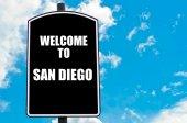 欢迎来到圣迭戈 — 图库照片