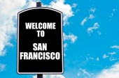 Welcome to SAN FRANCISCO — Stock Photo