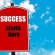 Success Starts Here — Stock Photo #74355189