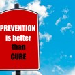 Prevention Is Better Than Cure — Stock Photo #74355259