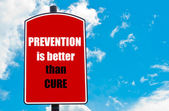 Prevention Is Better Than Cure — Stockfoto