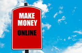 Tjäna pengar på nätet — Stockfoto