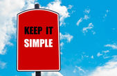 Keep It Simple — Stock Photo