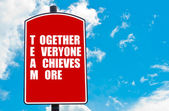 Together Everyone Achieves More — Stock Photo