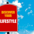 Discover Your Lifestyle written on road sign — Stock Photo #74687639