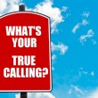 What Is Your True Calling?  written on road sign — Stock Photo #74687655