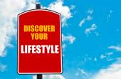 Discover Your Lifestyle written on road sign — Stock Photo
