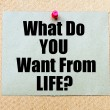 What Do You Want From Life? written on paper note — Stock fotografie #76192643