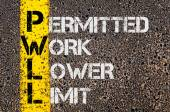 Business Acronym PWLL as Permitted Work Lower Limit — Stock Photo