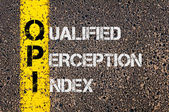 Business Acronym QPI as Qualified Perception Index — Stockfoto