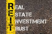 Business Acronym REIT as Real Estate Investment Trust — Stock Photo