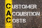 Business Acronym CAC as Customer Acquisition Costs — Stock Photo