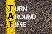 Business Acronym TAT as Turn Around Time — Stock Photo
