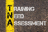 Business Acronym TNA as Training Need Assessment — Stock Photo