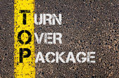 Business Acronym TOP as Turn Over Package — Stock Photo