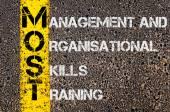Business akronym mest som förvaltning och organisatoriska färdigheter utbildning — Stockfoto