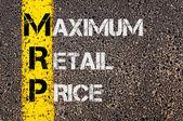 Geschäft Abkürzung Mrp als maximale Verkaufspreis — Stockfoto