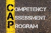 Business Acronym CAP as Competency Assessment Program — Stock Photo