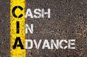 Business Acronym CIA as Cash In Advance — Stock Photo