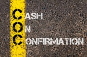 Business Acronym COC as Cash On Confirmation — Stockfoto