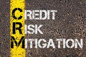 Business Acronym CRM  as Credit Risk Mitigation — Fotografia Stock
