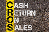 Business Acronym CROS as Cash Return On Sales — Stock Photo